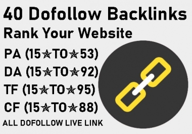 create 40 dofollow seo backlinks to rank your website