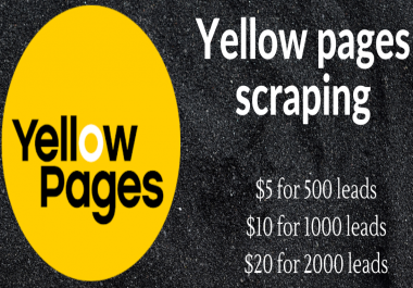 provide yellow pages scraping service