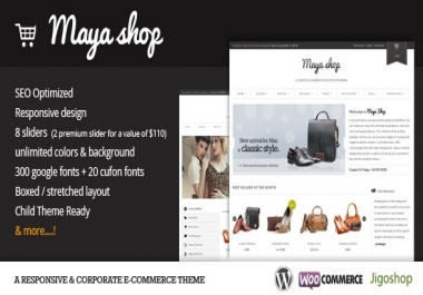 Send MayaShop - A Flexible Responsive e-Commerce Theme