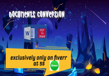 Convert pdf to words professionally