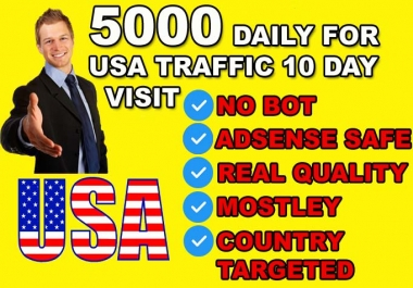 Drive 50000 Usa Real quality Visitors To Your Website