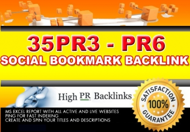 Give 35 PR 3 to PR 6 submit your site to manually backlink traffic