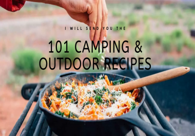 give you 101 camping and outdoor recipes plus bonus ebook