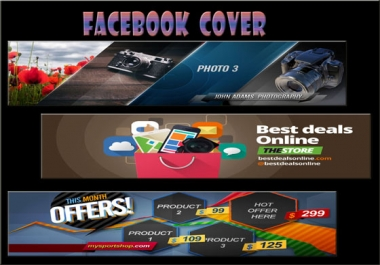 design attractive facebook cover image to your profile