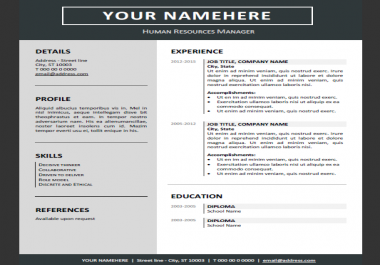 write an engaging and professional CV that will get you the job of your dreams