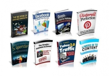 give you 100 social media ebooks with resell rights
