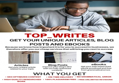 write and construct a unique 1000 words article and blog post