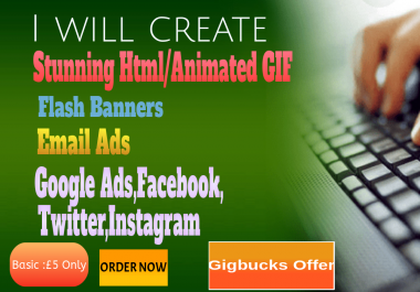 create animated GIF ad banners and animated web banner