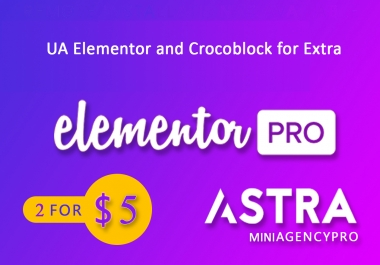 install Elementor Pro and Astra Pro
