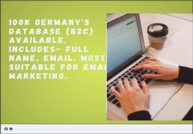 give you 100K B2C Germany Database