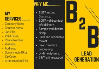 generate b2b lead from social media network