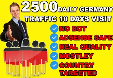 send Germany targeted website or blog traffic visitors