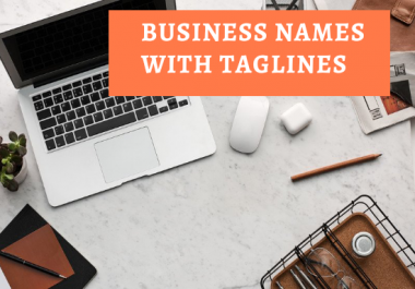 generate 25 unique business names and slogans for your business