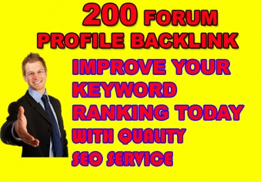 give Forum profiles 200 backlinks from high quality forums