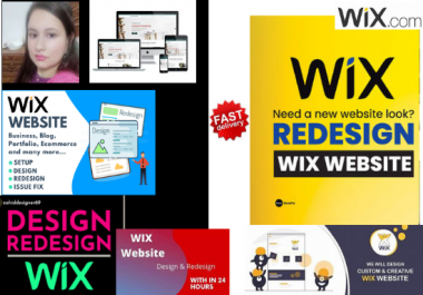 design, develop and redesign wix website with modern technology