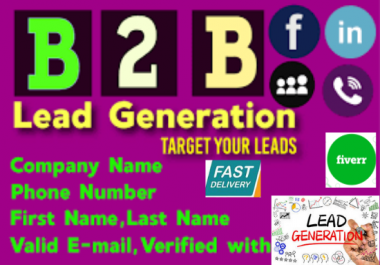 do b2b lead generation, verification for ur business