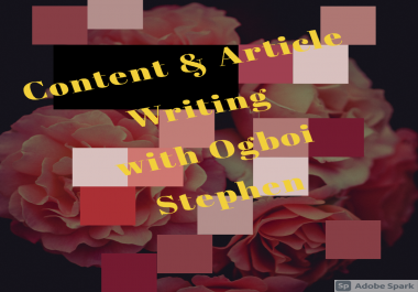 write a professional article for you