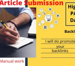 do manual article submission in high PR
