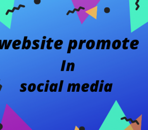 can promote your website share social media