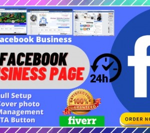 design facebook business page, cover and optimize