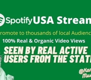 Give ORGANIC SPOTIFY MUSIC PROMOTION FOR USA STREAMS
