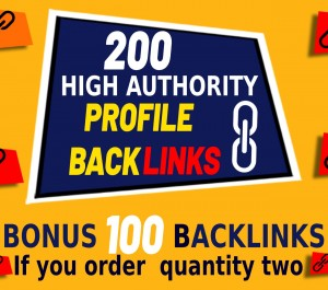 create200 High DA SEO Profile Backlinks Creations or Profile Link Building submission manually