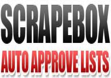 give you the latest massive Scrapebox list for april 2012, freshly harvested auto approve list trackback list and more
