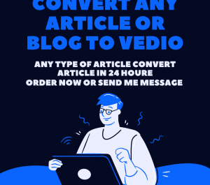 convert article to video or any blog into video