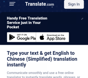 Translate from English to Chinese And Vice Versa.