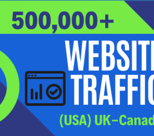 Provide 500,000+ website traffic visitors from worldwide