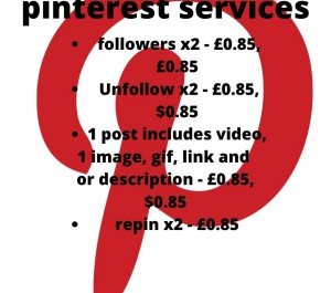 offer manual pinterest services