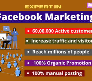 do organic Facebook marketing or promotion to bring USA traffic