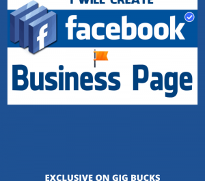 create & design fb business page page