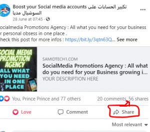 Do Facebook Promotions : +300 Facebook posts SHARES guaranteed for life
