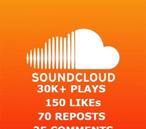 add 30K+ SOUNDCLOUD PLAYS + 150 LIKES +70 REPOSTS + 25 COMMENTS