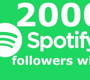 Get Spotify 2000 followers & 5000+ plays & 2000 monthly listeners & 300 Tracks Save