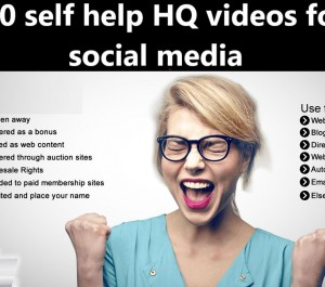give 100 self help HQ videos for social media