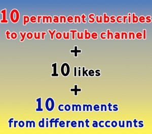 subscribe to your yt channel from 10 different accounts and like and comment