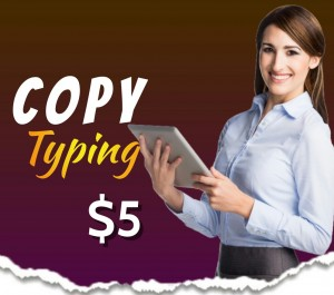 do your copy typing up to 12 pages of your scanned documents or any kind of writing text