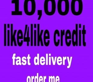 give you  10,000 like4like points  fast delivery
