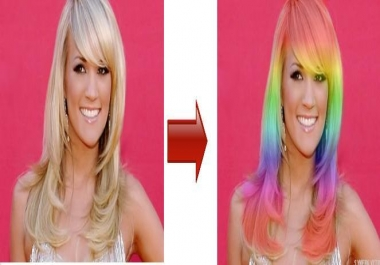 turn your hair into a rainbow