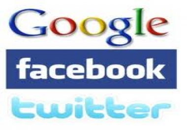give you 50+facebook likes 50 google plus likes 50 twiter followers