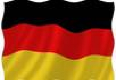 proofread, correct and edit YOUR German text