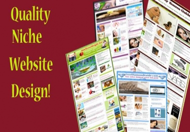 give you a Top Quality Niche Web site