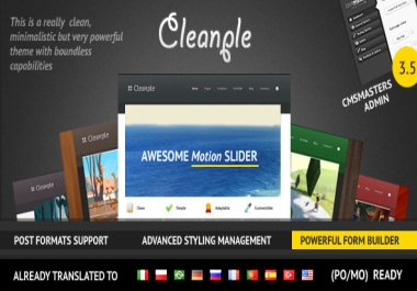 Give You CLEANPLE Awesome Multipurpose Template