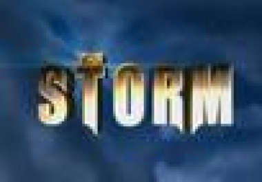 create STORM Visual Effects Video for you only