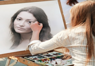 help You Make Your Photo Sketch By Street Artist + Convert In A Pastel Painting + Draw As Graffiti On A Wall + Tattoo On A Hand