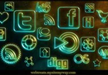 give 108 Glowing Neon Social Networking ICONS and more Social media Icon pack mega Collectin