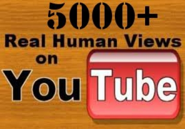 give you  5000+ youtube real human views + 65 likes + 10 sensible comments