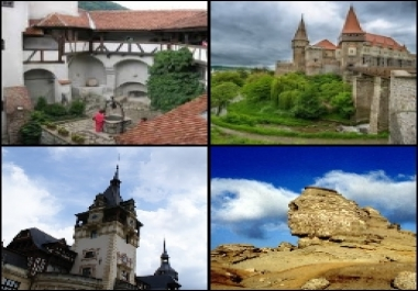 show three tourist routes in the area you want in Romania